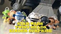 Boîte de des œufs étoile jouets déballage guerres twistheads oeufs 3-pack KINDER Surprise surprise