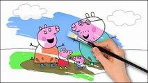 Et Livre coloration la famille sauteur enfants apprentissage boueux Nouveau sur porc flaques deau le le le le la Peppa pages fu