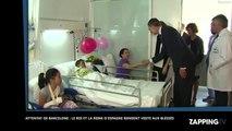 Attentat de Barcelone : Le roi et la reine d'Espagne rendent visite aux blessés