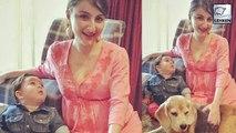 Taimur Ali Khan Has Fun With Pregnant Soha Ali Khan