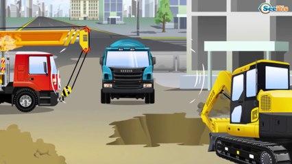 Super CAMION MONSTRUO y Carros de Carreras en la ciudad | Dibujos animados para niños