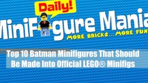 Dix homme chauve-souris Ensembles sommet contre Animation de lego