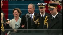 Former President George W. Bush and first lady Laura Bush arrive at Donal Trump Inaugurati