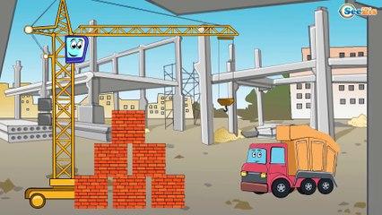 ✔ Camión, Grúa, Excavadora. Dibujos animados   Carros Para Niños   Caricaturas de carros ✔