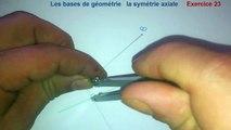Maths 6ème - Les Bases De La Géométrie : La symétrie axiale Exercice 23