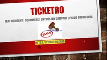 Buy Sell Tickets Online   Fake Event Promote Company   #Ticketro Review   Attention   Be Alert