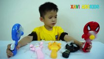 Learn Colors with mini Fan toys and Baby Xavi Superheroes Toys for kids Colours Learning v