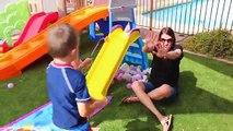 ROLLER COASTER Fun Summer Games Step 2 Extreme Rollercoaster Water Ballon Fight Family Fun