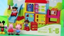 Et blocs maison de poupées maison souris porc jouer homme araignée LEGO mickey minnie Peppa