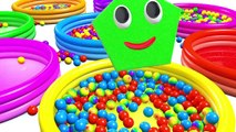 Learn Shapes for Children Baby Toddlers Kindergarten Kids 3D Colors Ball Pit Show DuckDuck