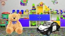 Pour Police collection denfants de dessin animé animaux machine ours arc-en-