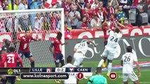 Lille 0 - 2 Caen # All Goals