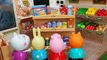 La fr dans porc et george Peppa faire acheter des jouets supermarché vidéos Peppa esp