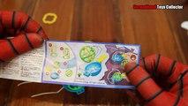Joie peler et manger des œufs au chocolat kinder lui œufs épluchées Amazing Spider géant Doraemon ht ☆