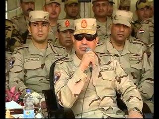 المشير السيسى يتفقد أحد تشكيلات القوات المسلحة بعد إعادة تنظيمها وتطويرها وفقاً لأحدث النظم القتالية