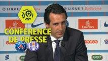 Conférence de presse Paris Saint-Germain - Toulouse FC (6-2) : Unai EMERY (PARIS) - Pascal DUPRAZ (TFC) - 2017/2018