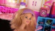 Et pauses gelé sa jambe faire de la planche à roulettes tout petit les tout-petits jouets Elsa anna elsa barbie chelsea