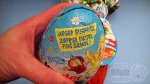 Et gros plus gros le plus grand Bonbons des œufs Apprendre ouverture tailles jouets avec Surprise des avengers
