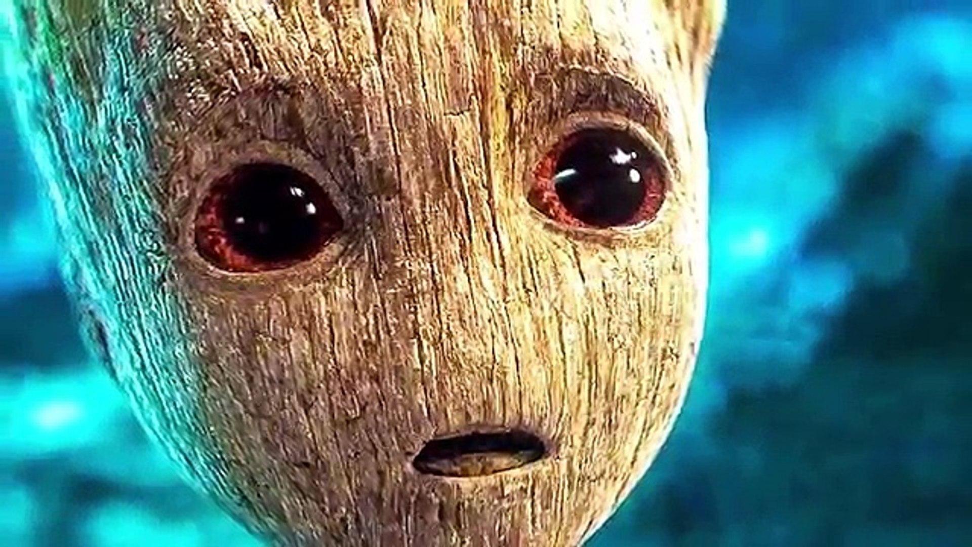 Acción bebé galaxia Groot traducción guardianes movimiento película de el remolque 2 2017 chris prat
