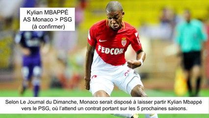 JT du Mercato (21/08/17) : Nasri à Antalyaspor, Mbappé vers PSG, Seri à Barcelone...