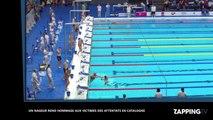 Attentats en Catalogne : Un nageur espagnol sacrifie une course pour rendre hommage aux victimes (vidéo)