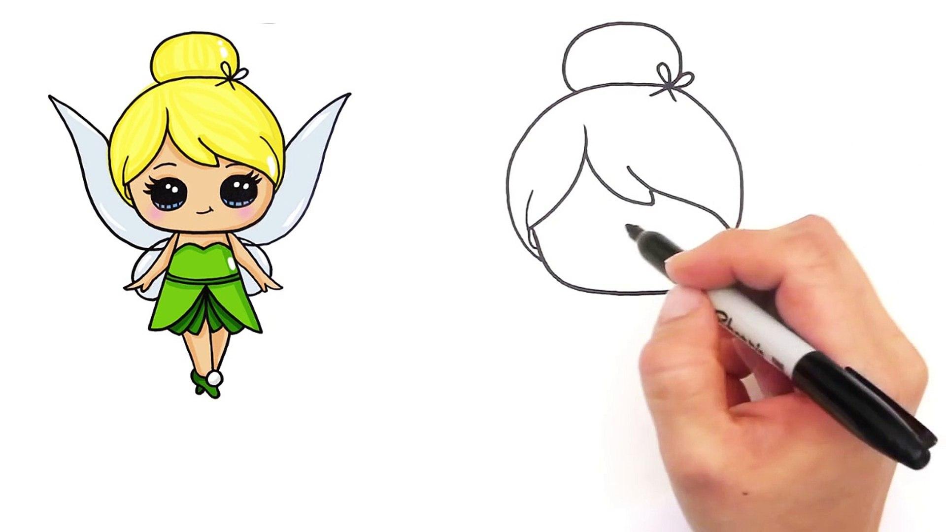 Arte Campana Por Lindo Sorteo Dibujos Hada Flor Cómo Paso Gitano Para Disney Fun2draw