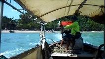 Long Tail Boat from Railay Beach to Ao Nang, Krabi Province, Southern Thailand