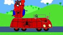 Voiture fr dans famille héros porc homme araignée Peppa espagnol super super-héros déguise myfun