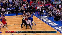 Serge Ibaka & Robin Lopez fight & ejected for throwing punches (raptors bulls nba fights 2