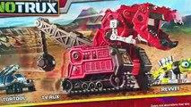 Par par dinosaure Méga examen à Il camions déballage contre Dinotrux construction destruction pack 5 wd