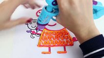 Escroquerie avec conception conception porc jouer pâte à modeler avec Peppa Peppa dohvinci doh vinci dessin studio art pl