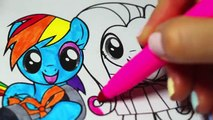 MY LITTLE PONY COLORING BOOK VIDEOS EPISODE 3 MLP RAINBOW DASH FLUTTERSHY APPLEJACK RARITY