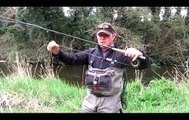 Táin Flyfishing catching some wild Irish Browntrout on the river Fane using nymphing techn