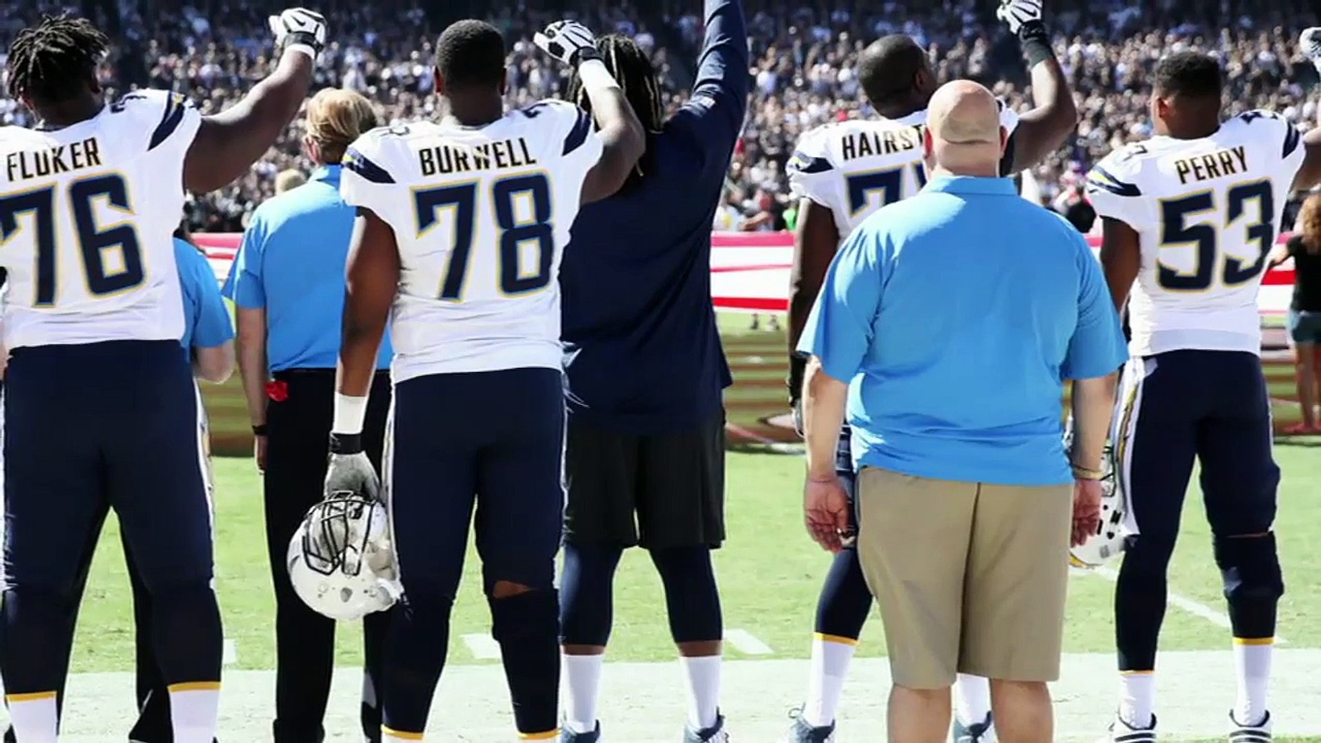White NFL players show support for teammates protesting national anthem _ First Take _ ESPN-7LzMuZdC