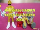 MARSHALL MARCUS TAKES SLYVANIAN'S MARSHALL MARCUS TAKES SLYVANIAN'S BIKE YELLOW RANGER SABAN'S POWER RANGERS , SYLVANIAN