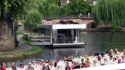 BOATHOME en exposition sur les quais à Strasbourg