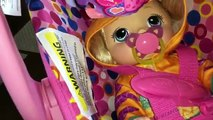 Bébé vivant bébé aller au revoir au revoir poupée à laide paquets pour alimentation