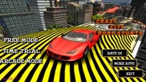 Crazy City Roof Stunts Impossible Stunts Car Track 3D #q   BamBi Tv Android GamePlay FHD