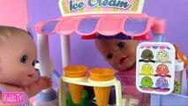 Bébé crème poupée de la glace jouet un camion Dans le comme avec crème glacée camion baby boom poupée maman jeu de poupée