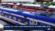 THE RUNDOWN   New Tel Aviv-j'lem fast train speeds to opening   Tuesday, August 22nd 2017