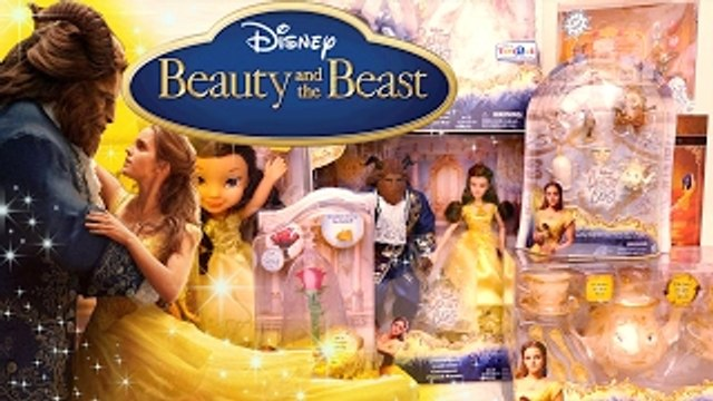Toys & Dolls from the Beauty and the Beast Live Action Movie with Belle, Gaston, Beast, an