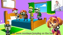 Lit danse cinq dans sauteur petit singes garderie sur patrouille patte le le le le la se transforme zombi 5 r