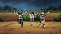 Naruto,Neji,Kakashi and Tenten vs Hoki(Moso)