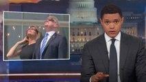 Trevor Noah Mocks Donald Trump for Staring at Eclipse | THR News