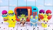 Les couleurs aller Apprendre la magie Magie micro onde jouer faire semblant jouet avec Pokemon pokeball playdoh surprises