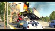 Accidente de colisión inevitable en el accidente de tránsito a los coches de accidentes rompen juego de dibujos animados 3d acerca