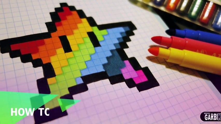 Diamant Dessiner Fait Main Comment Arc En Ciel à Il Pixel Art Pixelart