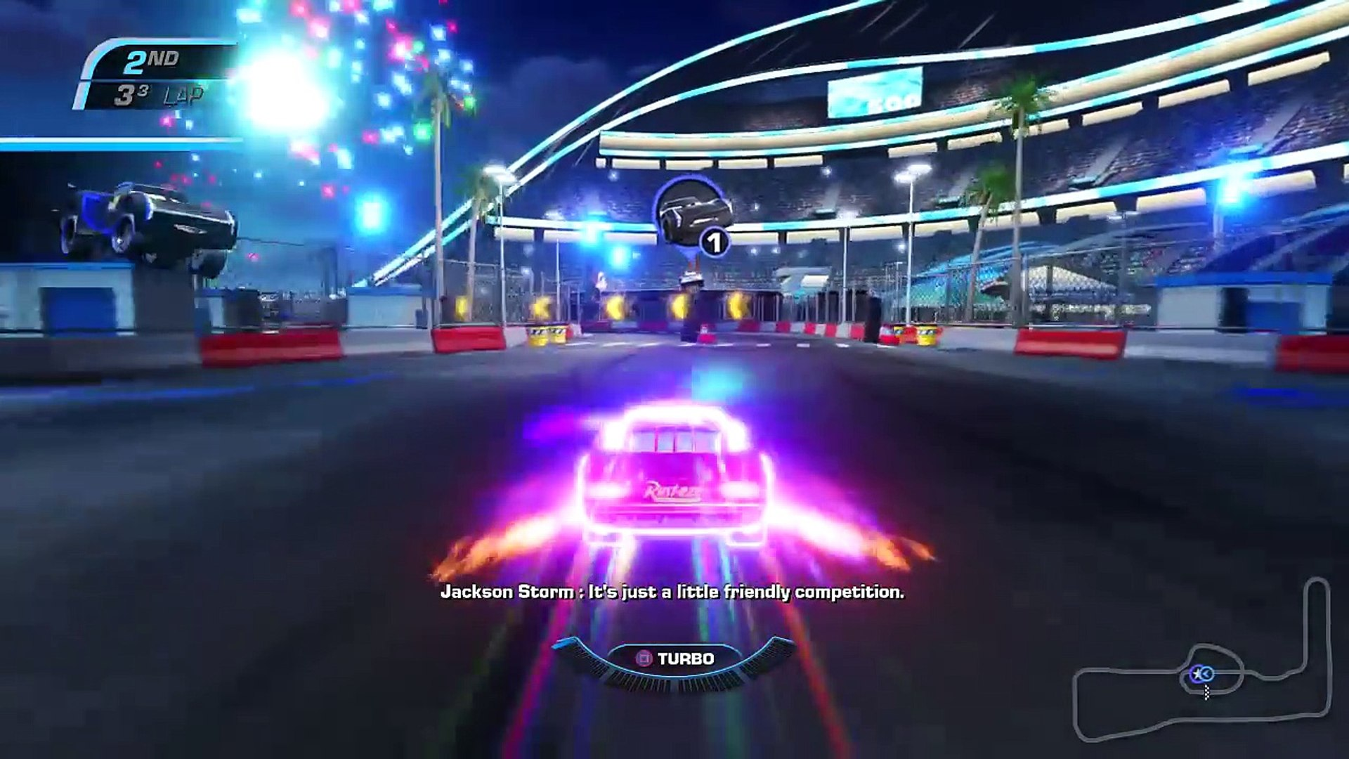 Cars 3 Driven To Win Ps4 Gameplay Lightning Mcqueen Vs Jackson