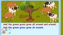 Tous les tous les autour autour de par par pour enfants herbe vert pousse enfants apprentissage Paroles chanson chansons le le le le la avec St