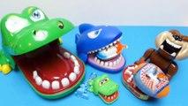 Y enojado ataque cocodrilo dentista perro huevos huevos huevos Niños Avión tiburón sorpresa juguetes con inquietud